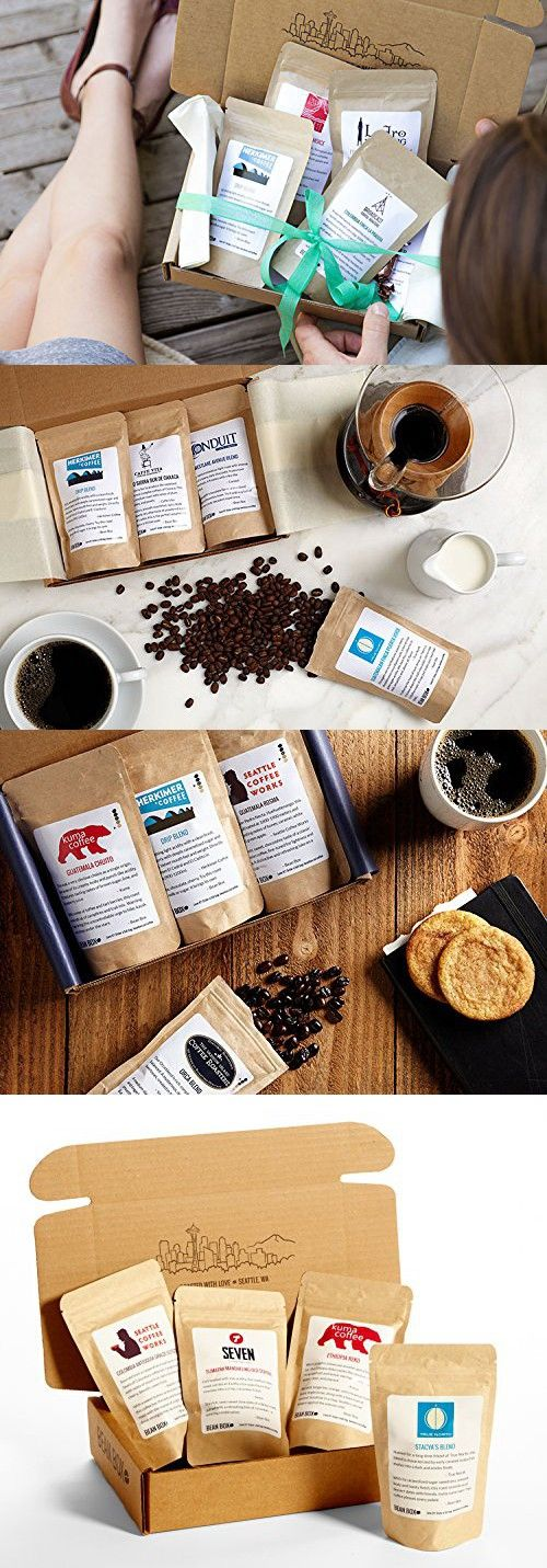 Bean Box Gourmet Hawaiian Coffee Sampler - (4 handpicked Hawaiian roasts including 100% Kona, fresh roasted coffee gift box, specialty whole bean, personalized gift note)