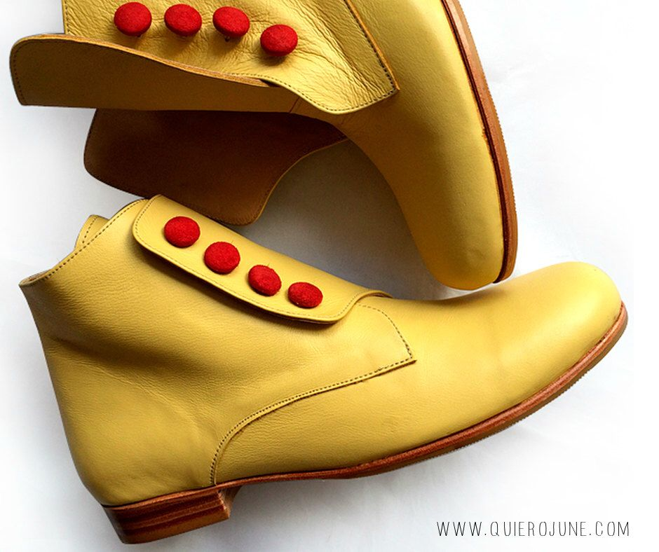 Bootie Yellow - Free shipping *** Leather boot. Woman boots. Handmade in Argentina by QuieroJune on Etsy https://www.etsy.com/listing/234266054/bootie-yellow-free-shipping-leather-boot