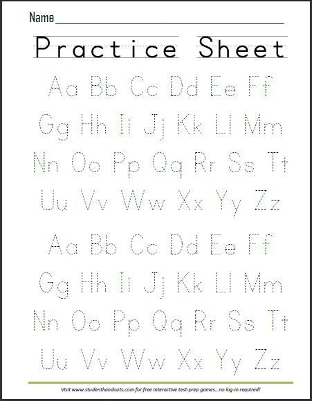 Free Worksheets letter tracing worksheets for preschool : Free Printable Handwriting ABC Worksheet : Free Printables ...
