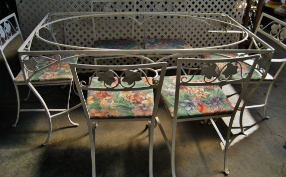 Salterini Ivy Wrought Iron Patio Set From By Robinstreasurechest