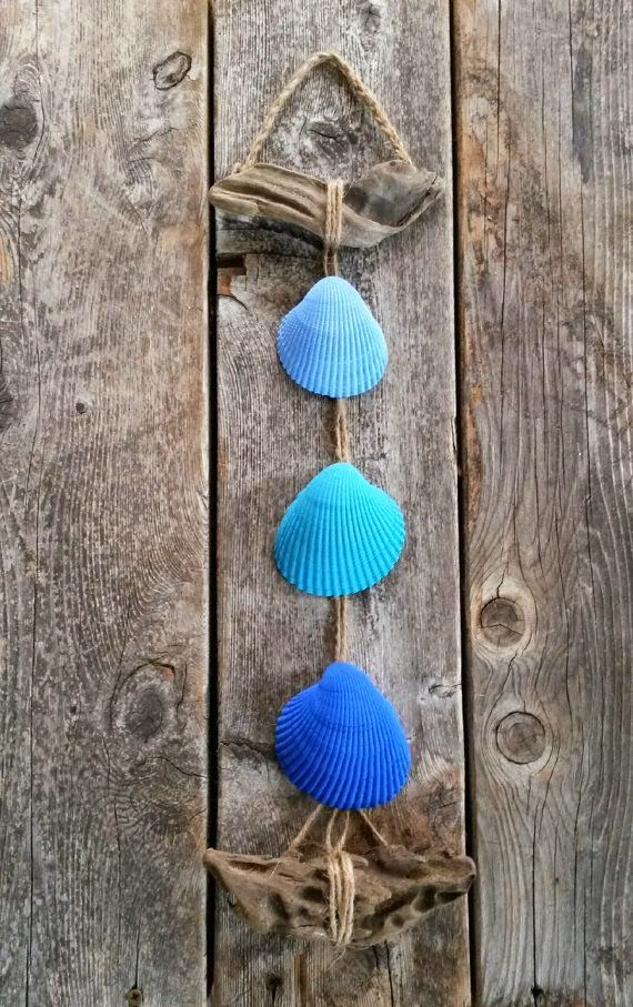 50 seashell hanging decor driftwood cobalt blue for nautical beach house decor beach wedding decor beach wedding favors solutioingenieria Choice Image