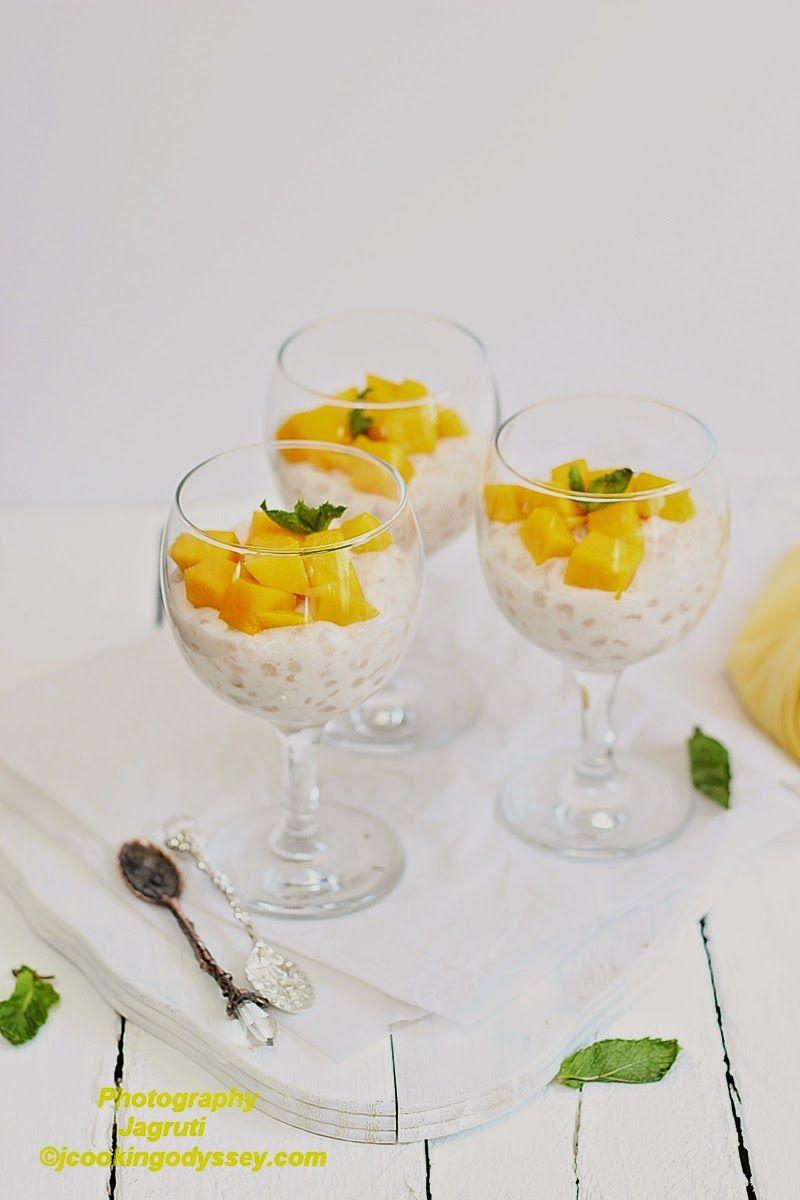 Mangococonut tapioca pudding Recipe Coconut tapioca