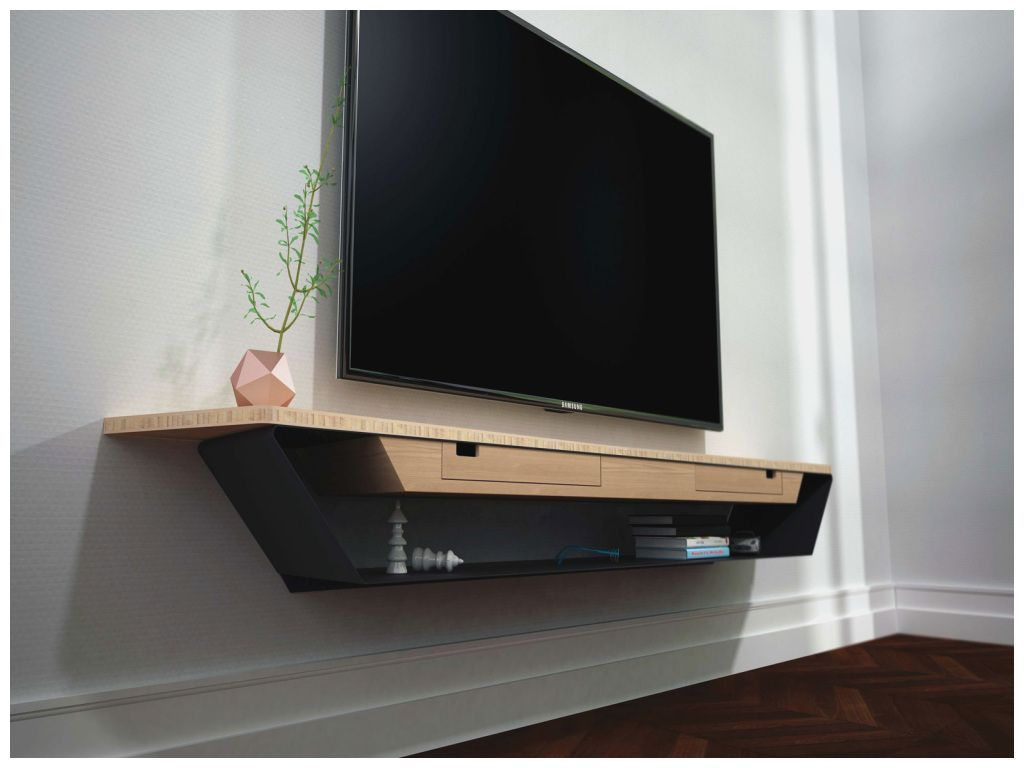 إنجاز ميناء رحيل إلى meuble tv suspendu bois amazon