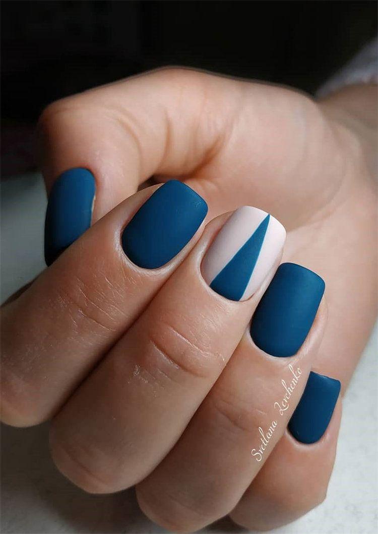 77 Stylish Simple Geometric Nail Art Designs Trendy Ideas For 2020 Flymeso Blog Geometric Nail Geometric Nail Art Cute Easy Nail Designs