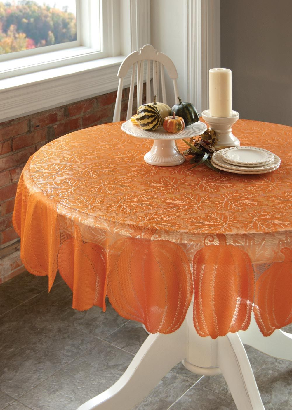 Dining Room Table Toppers Amazing Our Pumpkin Round Table Topper Packs A Punch Of Festive Orange Design Ideas