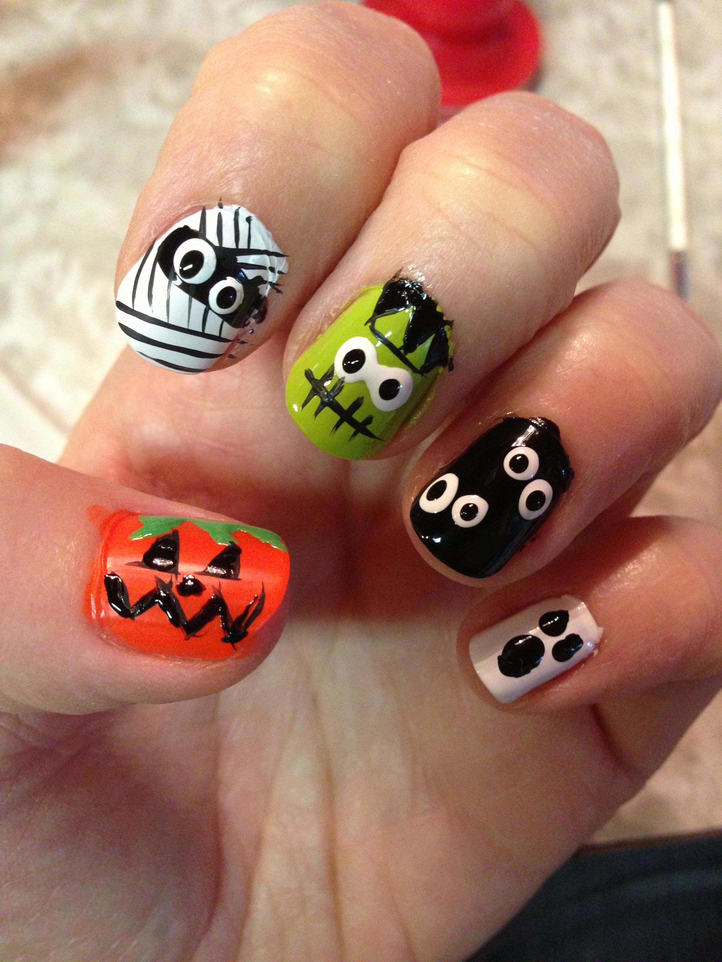 Halloween nails | I did it & Pinterest hay-elped! | Pinterest | Nail ...