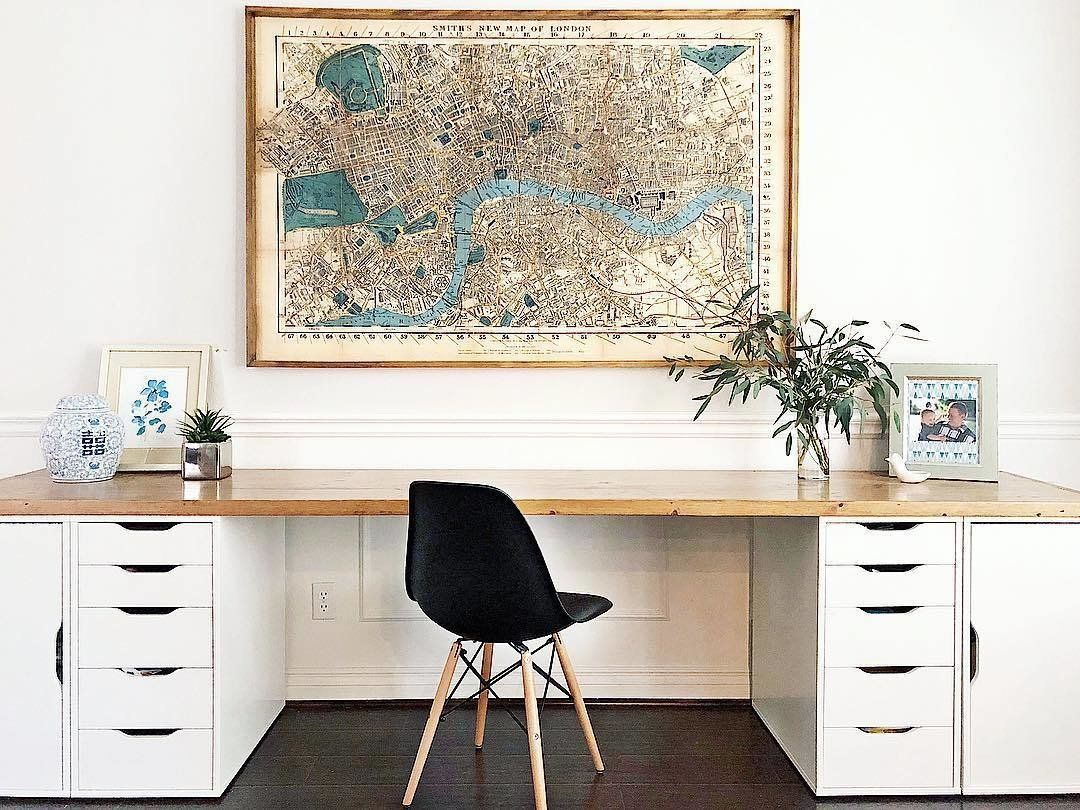 Photo 9 Of 42 In 10 Home Renovators You Should Follow On Instagram Large Office Desk Home Office Decor Home