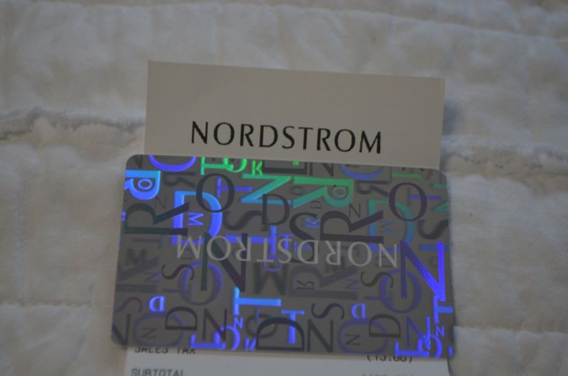 Nordstrom Gift Card- 164.02 (#132356600575) - Gift Cards & Coupons ...