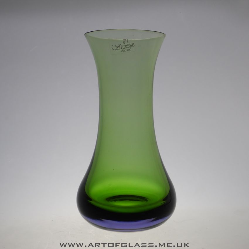 Caithness Green Lilac Glass Vase Vases Pinterest Glass And