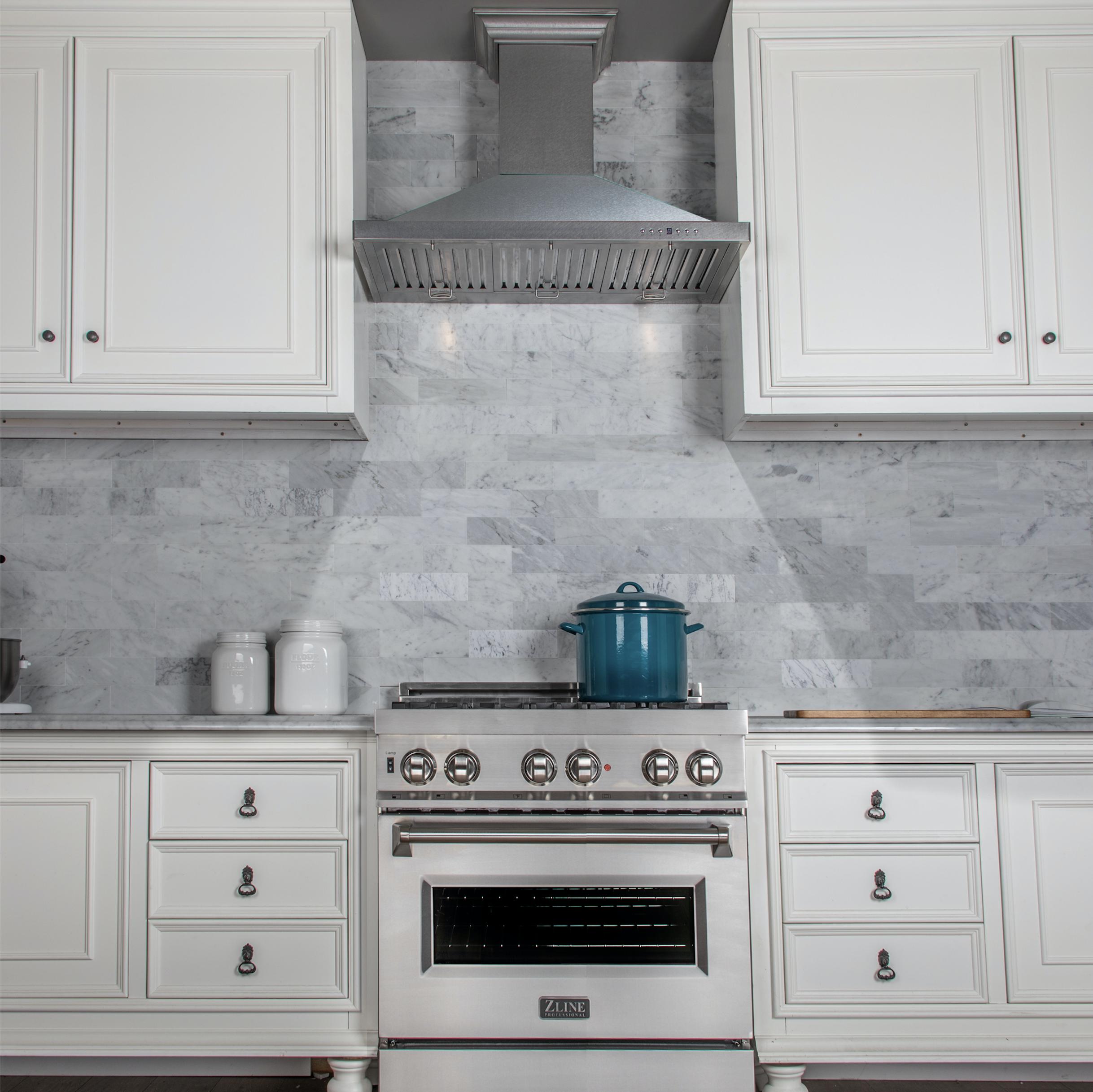 Zline 30 In Designer Series Durasnow Stainless Steel Wall Mount Range Hood 8kbs 30 Kitchen Remodel Kitchen Renovation Kitchen Layout