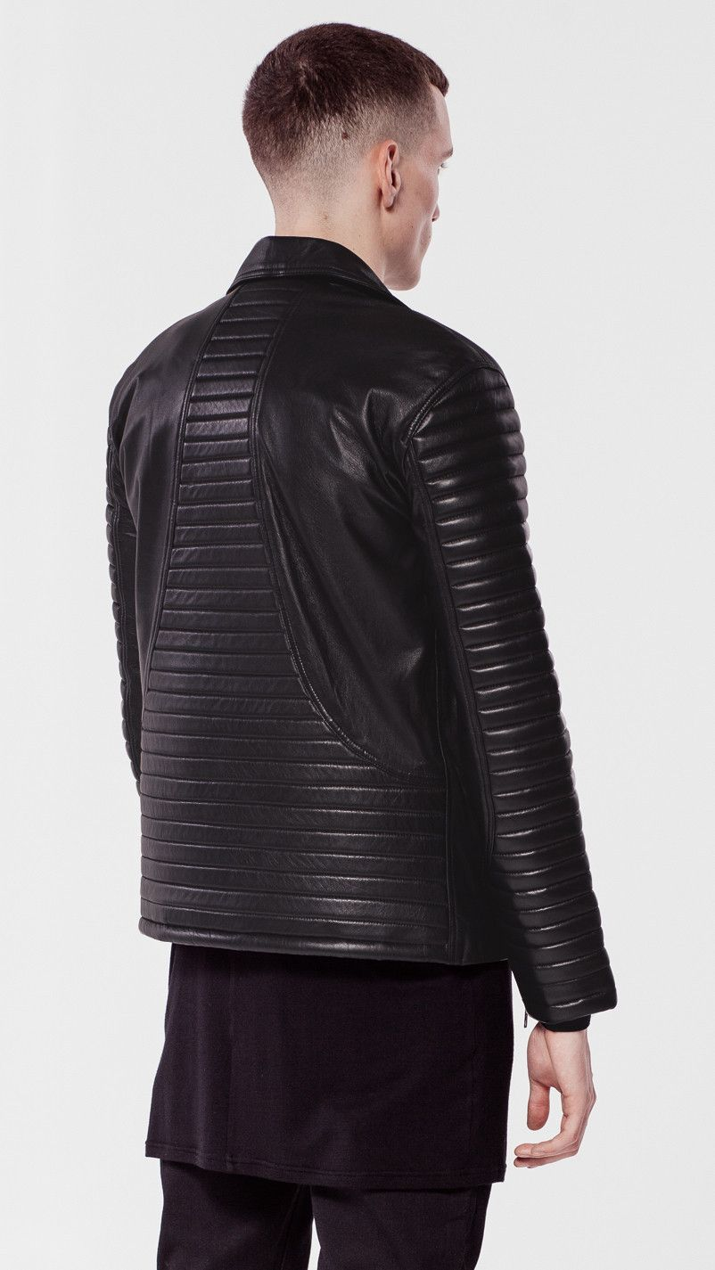 6aebd949f REPRESENT Biker padded leather jacket | Men's Fashion | Leather ...