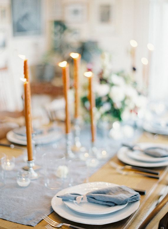 Intimate blue & metallic wedding inspiration I Floral Design & Styling: Poppies & Posies I Jen Huang Photography