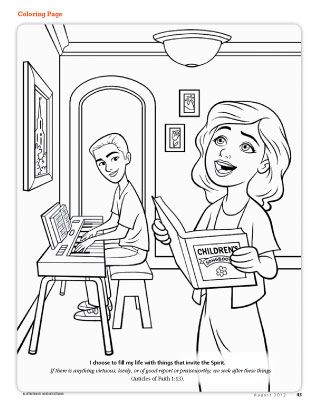 Lesson 35 I Have Talents Purpose To Help Each Child Recognize Holy Ghost Coloring Page