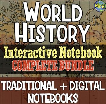Photo of World History Complete Interactive Notebook Bundle: Traditional + Digital INB