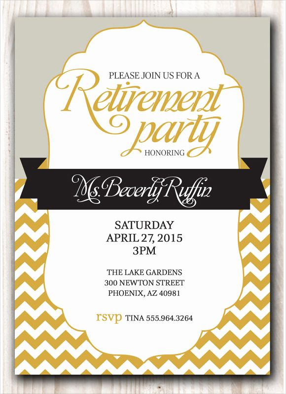 Retirement Dinner Invitation Template Best Of 10 Sample