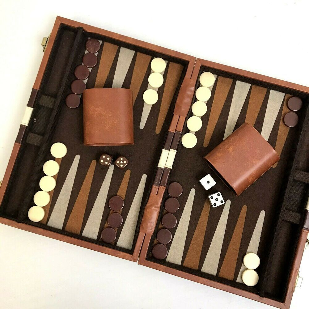 Travel Size Backgammon Board Game For Two Dice Game