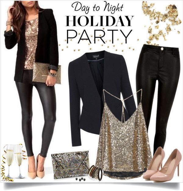 5 LastMinute NYE Outfit Ideas, Made Up of Things You Already Have - Work party outfits, Holiday outfits women, Holiday party outfit work, Party outfits night, Dinner party outfits, Casual party outfit - Say hello to the new year in your most chic ensemble    no shopping required