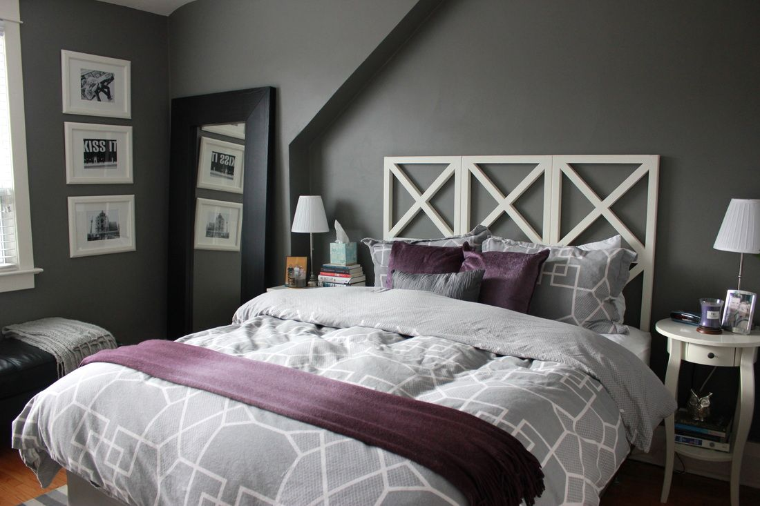 Adding Purple To Our Asphalt Grey Bedroom Science Of Married