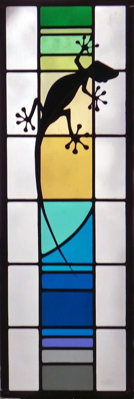 Stained, etched & leaded glass.