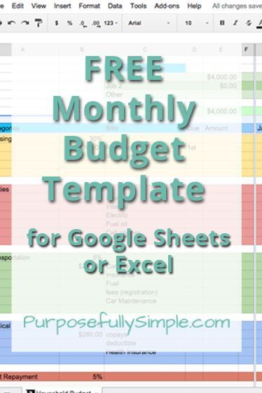 Free Monthly Budget Template Homestead Finances Pinterest - How To Make A Household Budget Spreadsheet
