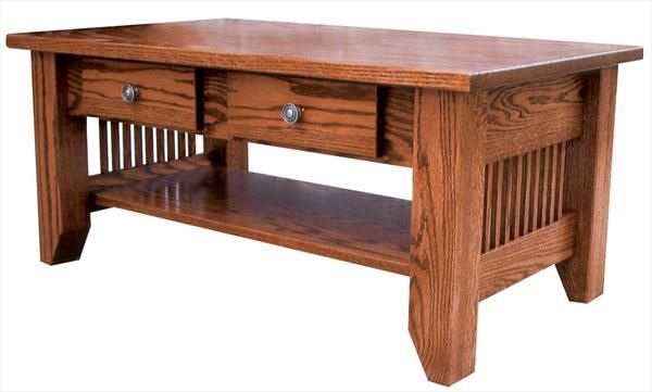 Amish Mission Coffee Table With Inch Top 18 Inches High X 40