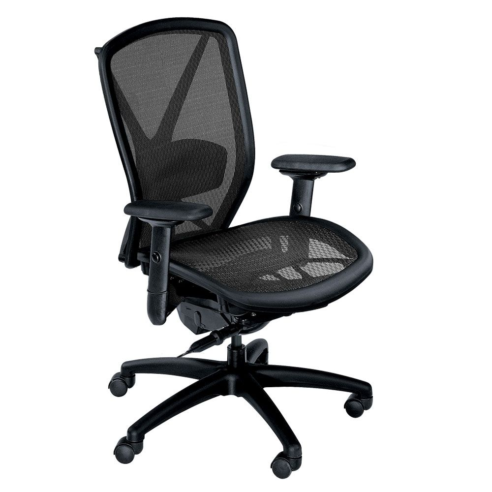 Fluid ergonomic mesh chair with lumbar support chair