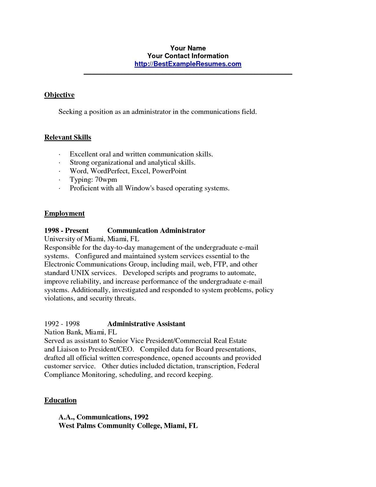 33++ How to write a resume for communication skills Examples