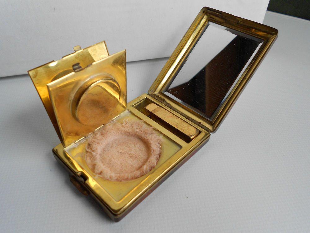 Ancien poudrier miroir vintage powder compacts for Prix miroir ancien