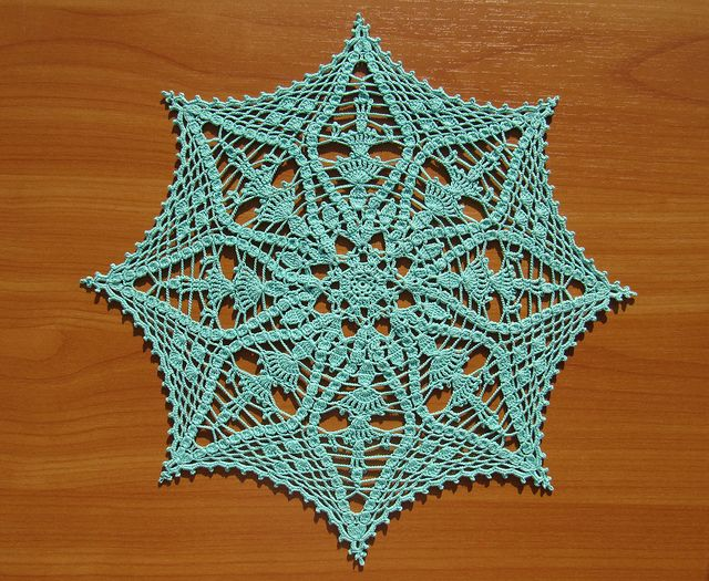 Aquamarine Starcatcher by Kathryn White from Annie's Attic #877511, Old Fashioned Doilies