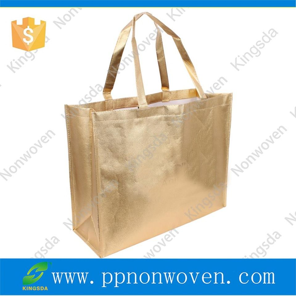 Wholesale Customized Nonwoven Gift Bag Birthday Christmas Bags With Glitter Laser Laminated