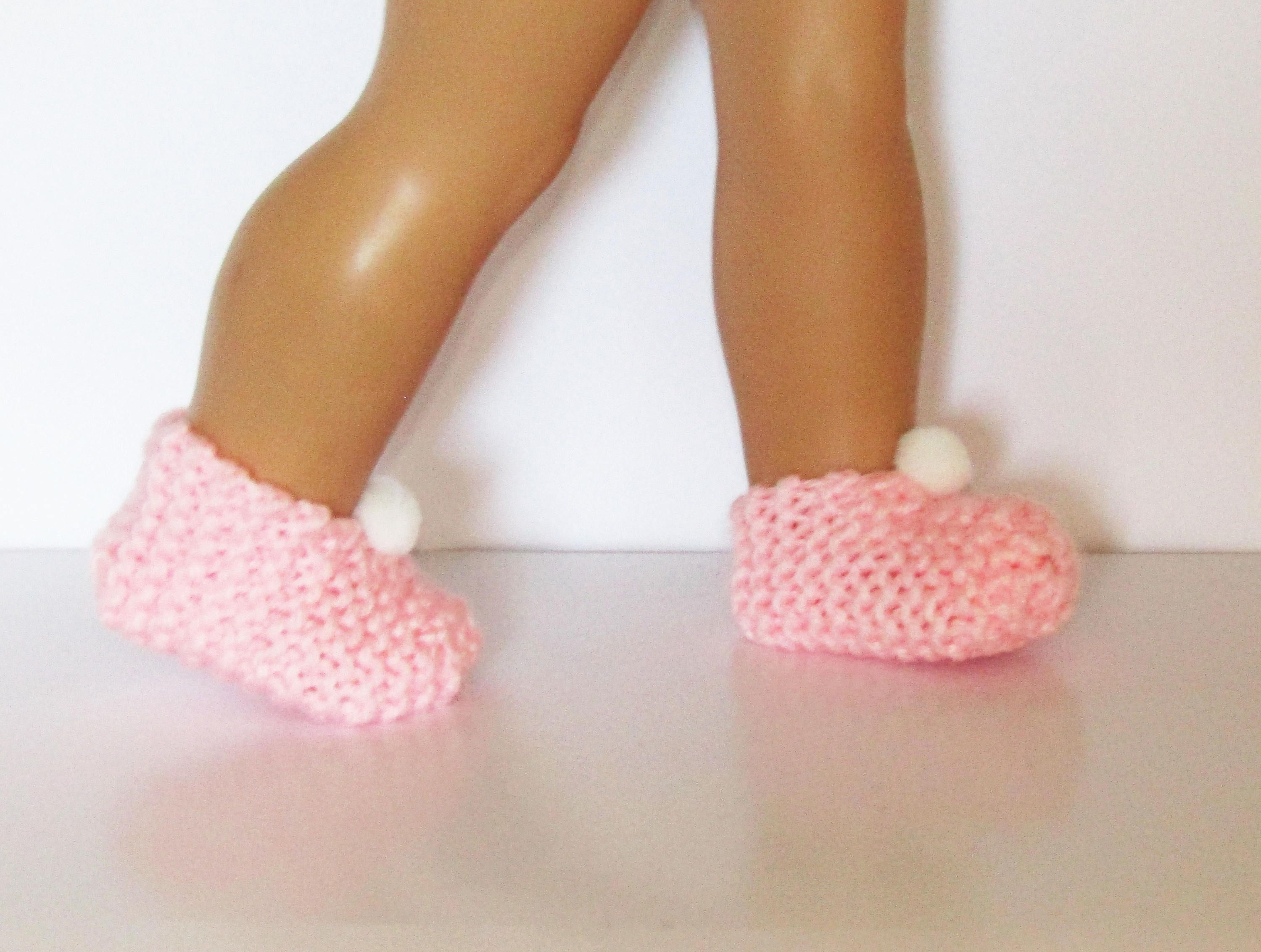 """Pink w// White Polka dot Ballet Flats made for 18/"""" American Girl Doll Clothes"""