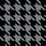 Hahnentritt-schwarz-grau - Neues Design für One S - HardCase black