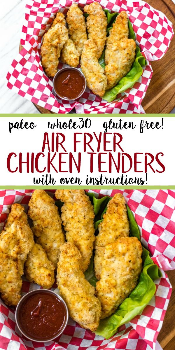 Photo of These Whole30 and Paleo air fryer chicken tenders are perfectly crispy on the ou…