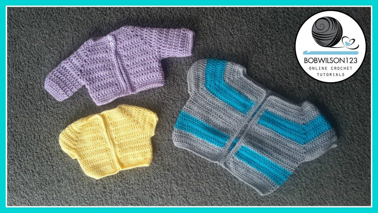 Cardigan Crochet Tutorial - Various Child Sizes