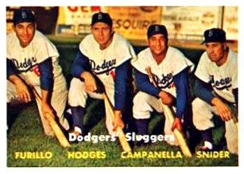 400 Dodgers Sluggers Carl Furillo Gil Hodges Roy Campanella Duke Snider Dodgers Baseball Slugger