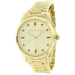 627-170 - Michael Kors Women's Blake Quartz Crystal Accented Dial Stainless Steel Bracelet Watch