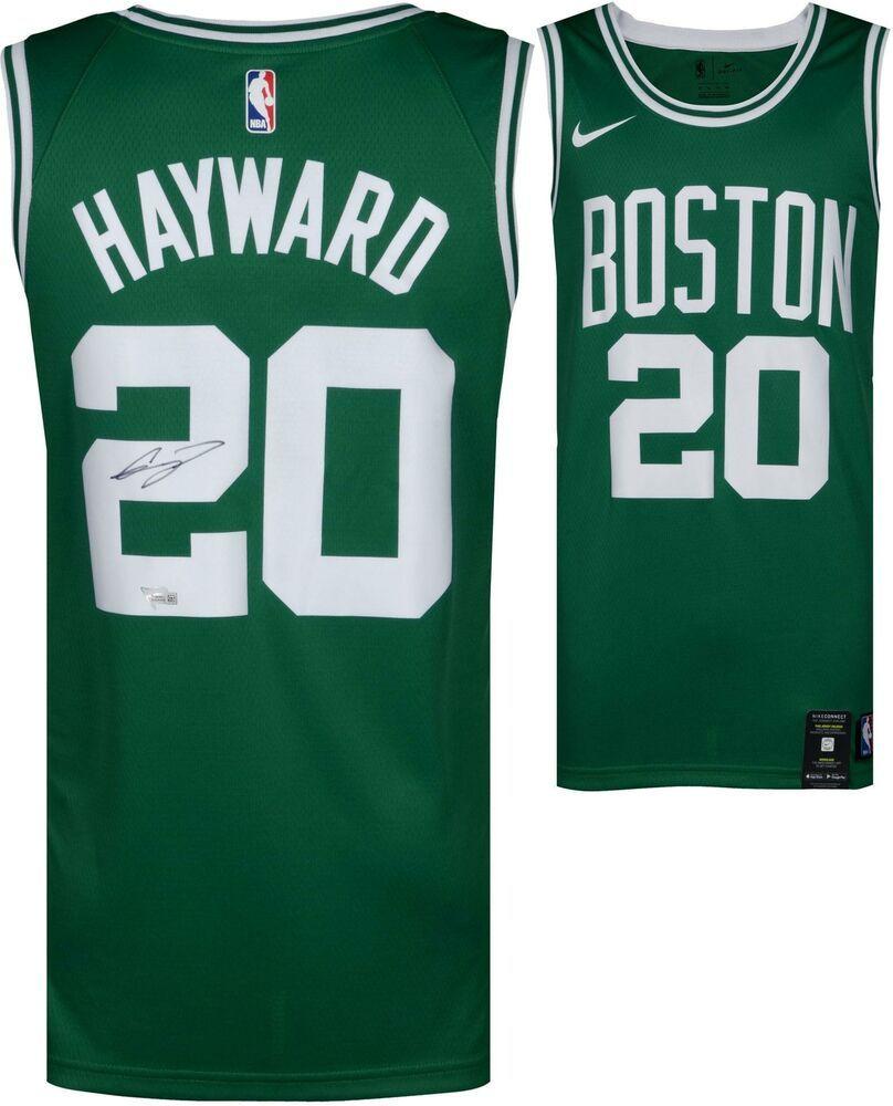a2c4084526ba Gordon Hayward Boston Celtics Autographed Green Nike Swingman Jersey   sportsmemorabilia  autograph  basketballjersey