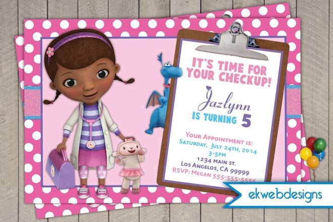 Doc mcstuffins birthday invitations doctor mcstuffins doc doc mcstuffins birthday invitations doctor mcstuffins filmwisefo