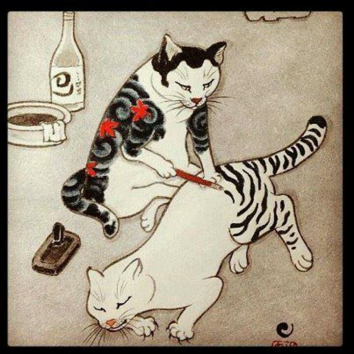 These 21 Cat Tattoos Are Purfection Cat Art Japanese Cat Cat Tattoo