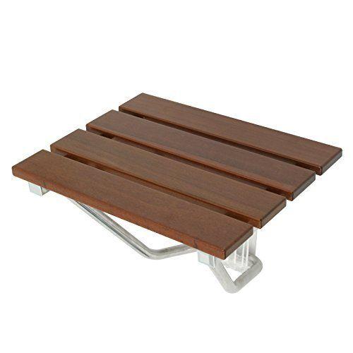 WELLAND Corner Bamboo Shower Bench with Storage Shelf | drrao ...
