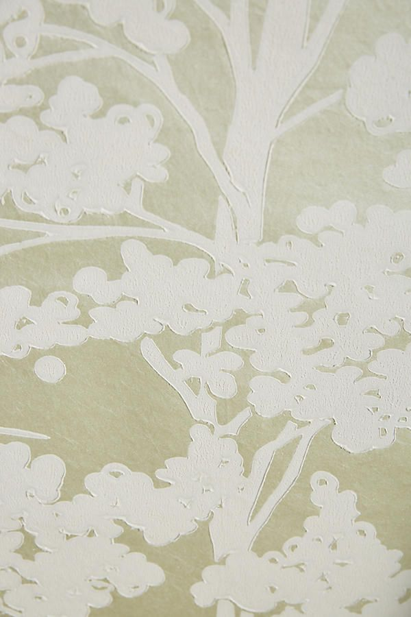 Slide View: 4: Sprouted Wallpaper  Light Green close-up  Anthropologie