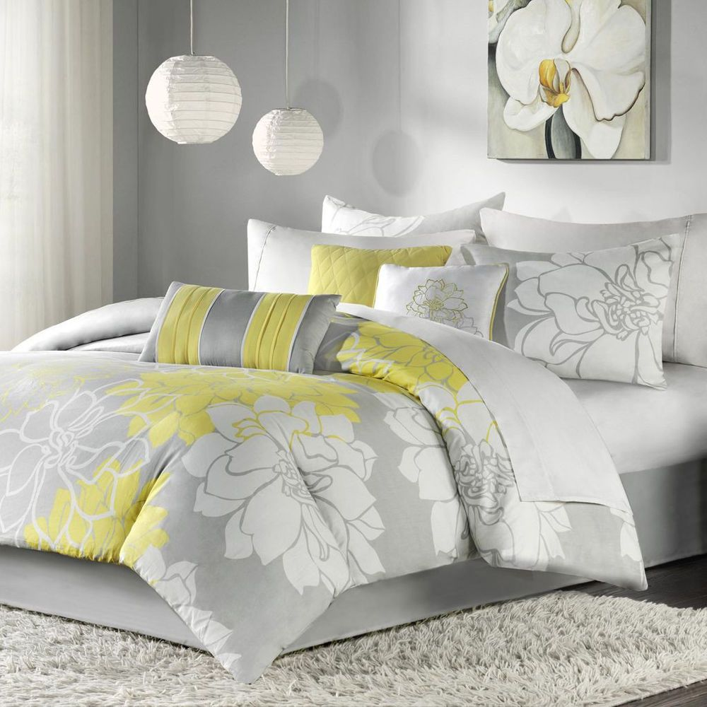 sets comforter bedding gray bedroom product piece elegantlinensanddecor luxury com claudia king set