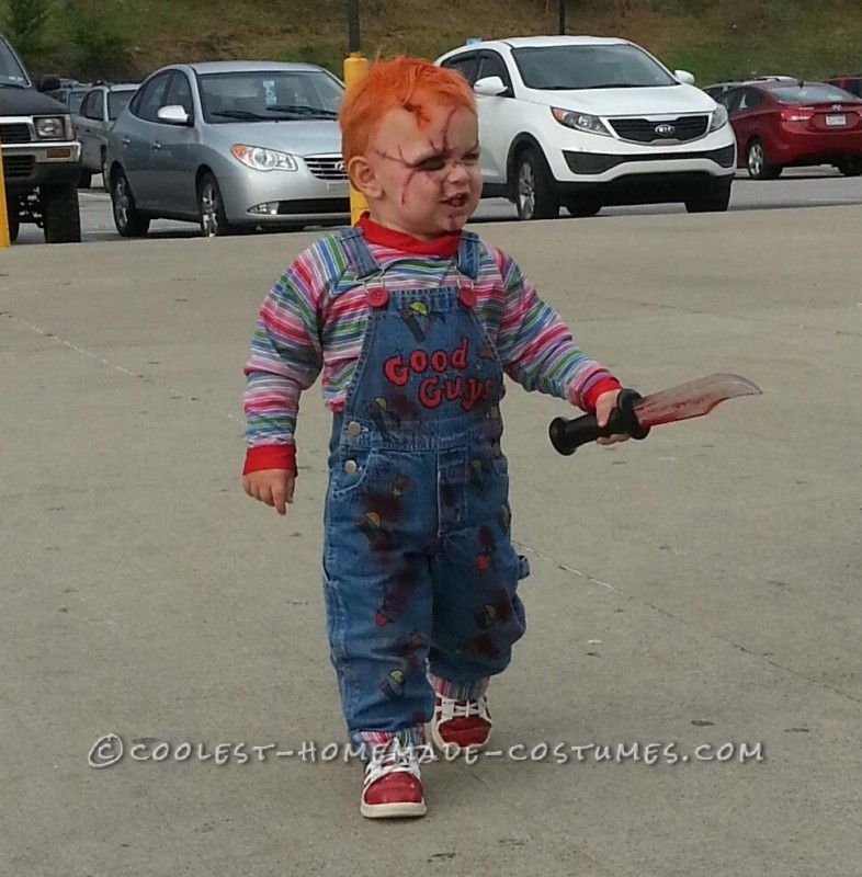 Chucky Toddler Costume the Beginning, When He Was Two