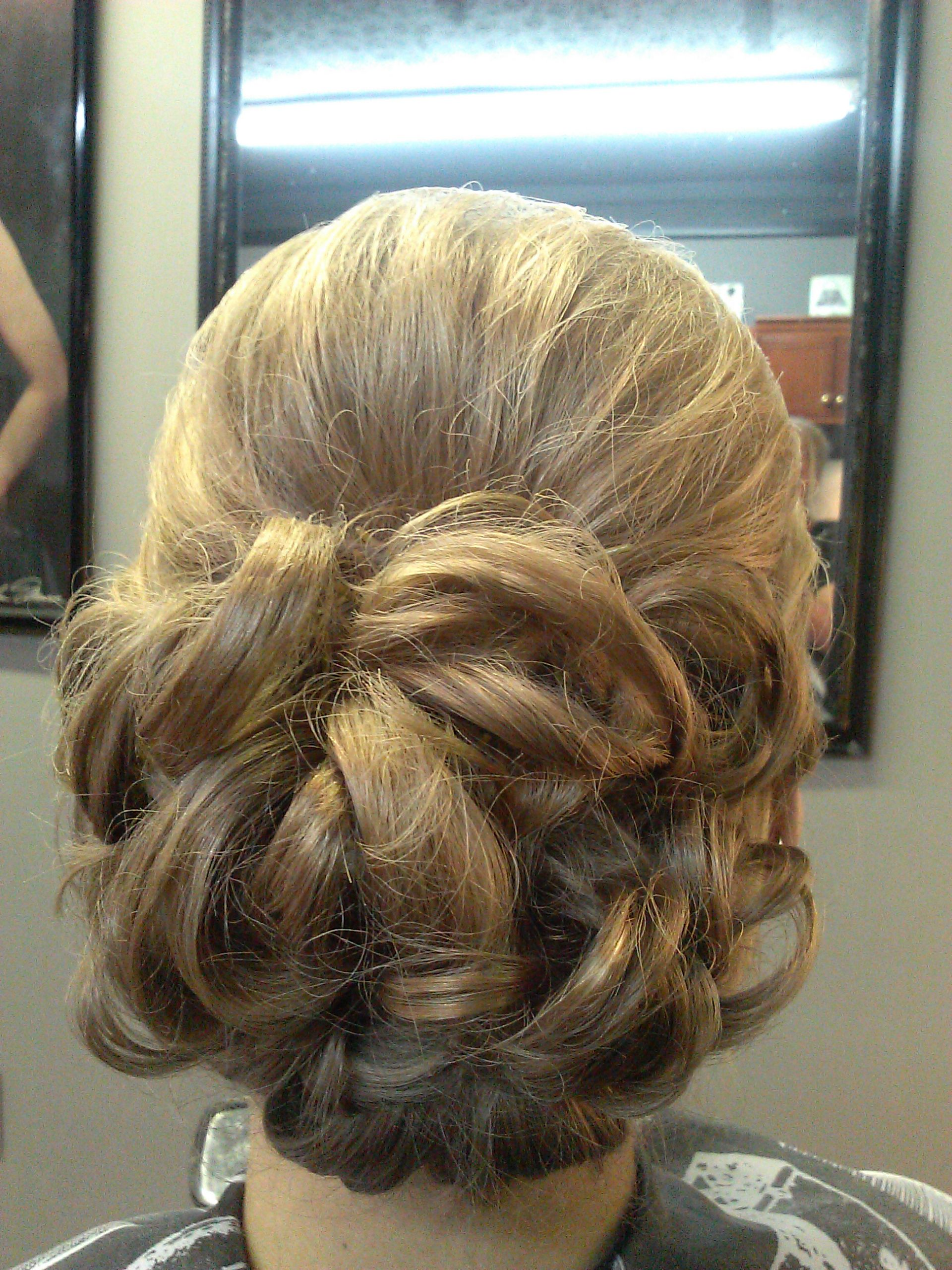 Flower Bun Formal Style Wedding Prom Hair Updo With Bump All About