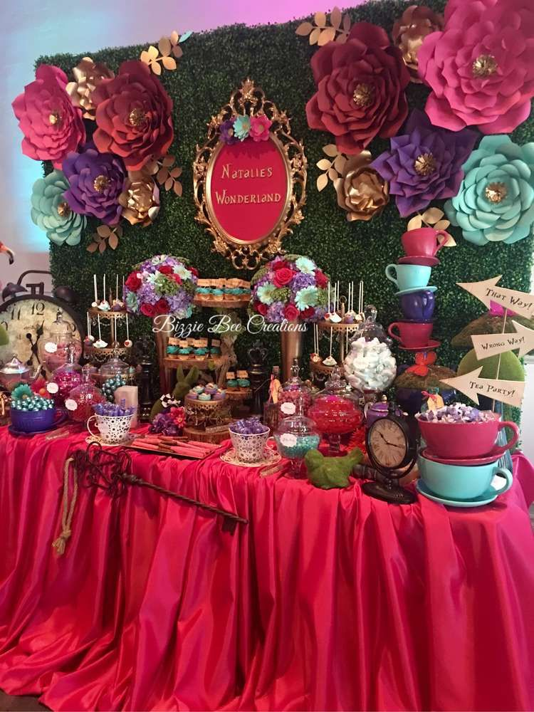 Alice in Wonderland Quinceañera Party Ideas | Photo 1 of 12 #quinceaneraparty