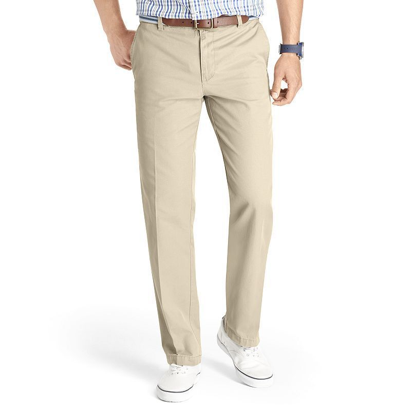 Izod Mens Flat Front Slim Saltwater Chino Stretch Pant Casual Pants