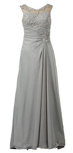 b8c686db111f ANTS Women s Appliqued Chiffon Mother of the Bride Evening Dress Long Size  16 US Grey ANTS http   www.amazon.com dp B00O9S2YE4 ref  ...
