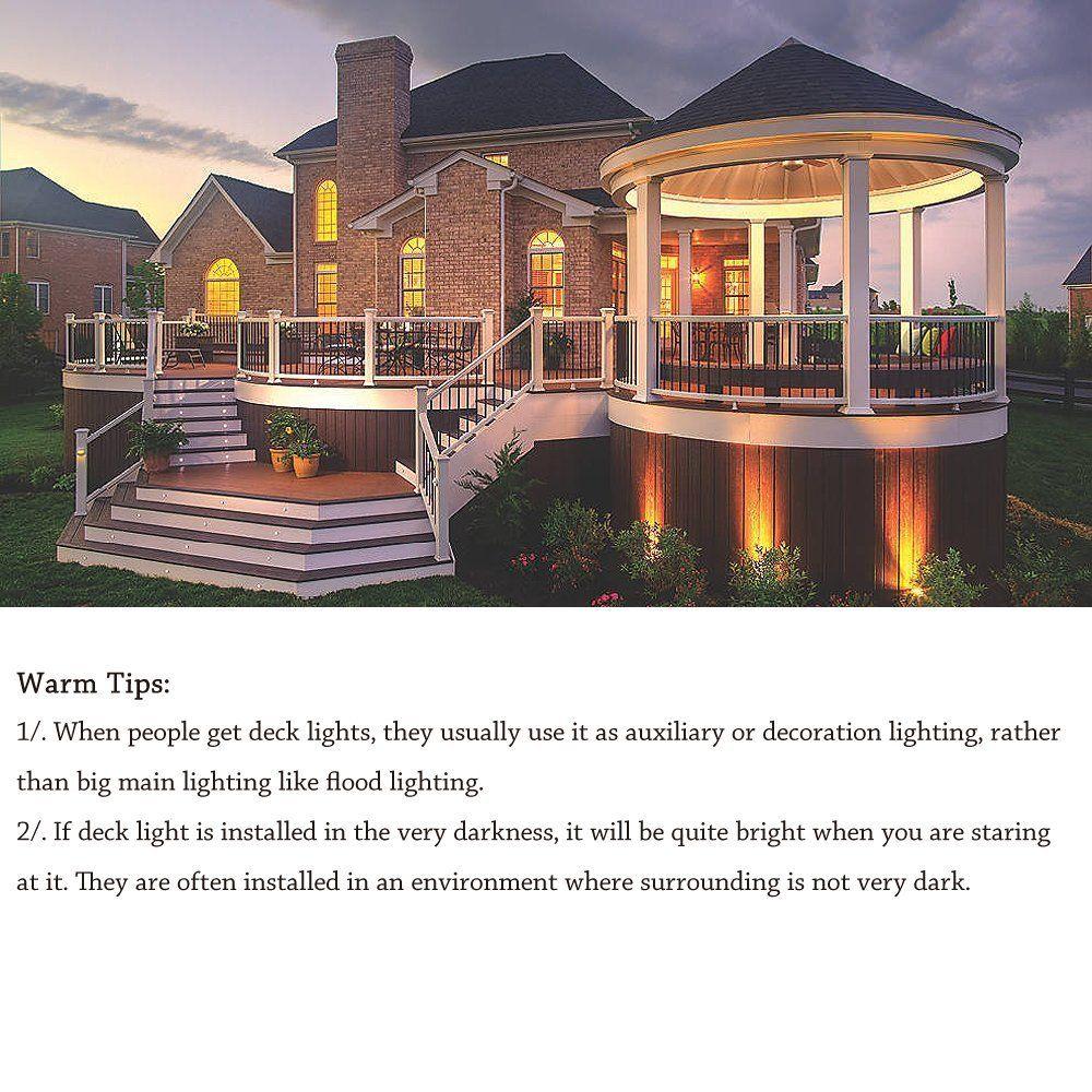 low voltage interior lighting kits%0A Lights Kit   V Low Voltage Waterproof IP   Warm White Recessed Deck Lighting