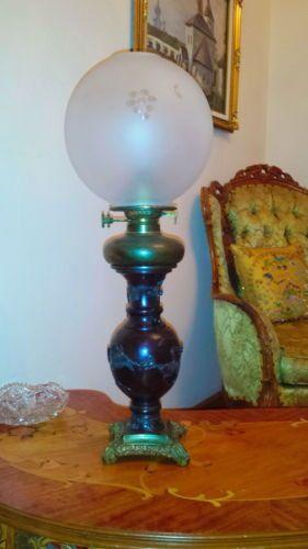 Antique vantines vantine co 1880 parlor oil kerosene table lamp antique chandeliers fixtures sconces ebay glass lampsoil aloadofball Gallery