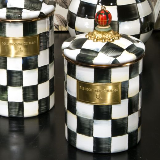 Black And White Kitchen Canister Sets | With This Black And White Check  Canister Classic And